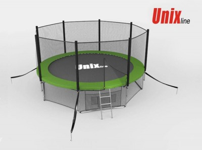 Батут Батут UNIX 10 FT OUTSIDE (GREEN) с сеткой