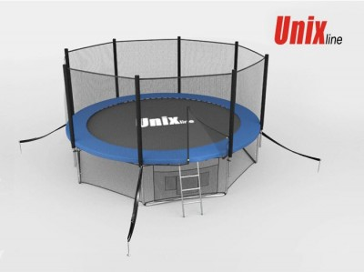 Батут Батут UNIX 10 FT OUTSIDE (BLUE) с сеткой