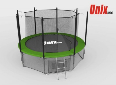 Батут Батут UNIX 8 FT INSIDE (GREEN) с сеткой
