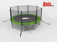 Батут UNIX Батут UNIX 12 FT OUTSIDE (GREEN) с сеткой