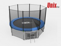 Батут UNIX Батут UNIX 8 FT OUTSIDE (BLUE) с сеткой